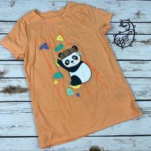 Cat & Jack T-Shirt 7/8 Orange Panda Rock Climbing